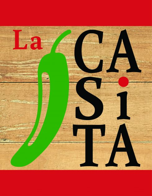 Logo for the La Casita with green pepper